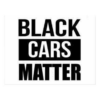Cartão Postal Matéria preta dos carros - humor engraçado da