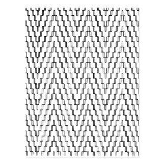 Cartão Postal Matéria têxtil indonésia ondulada abstrata