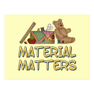 Cartão Postal Matérias materiais que Sewing o humor