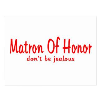 Cartão Postal Matrona da inveja da honra