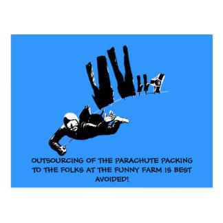 Cartão Postal Mau gosto mas skydiving engraçado