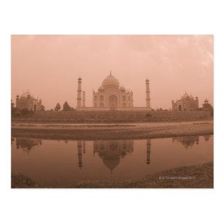 Cartão Postal Mausoléu no beira-rio, Taj Mahal, Agra
