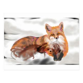 Cartão Postal Maya e a raposa