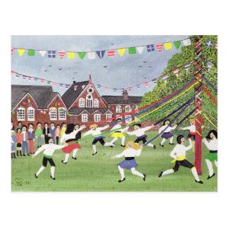 Cartão Postal Maypole que dança 1991