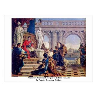 Cartão Postal Mäzenas representa Augustus antes das artes