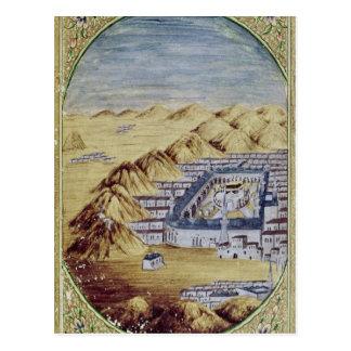 Cartão Postal Meca cercada pelas montanhas de Arafa