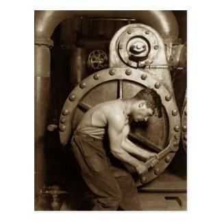 Cartão Postal Mecânico da bomba de vapor