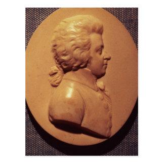 Cartão Postal Medalhão do retrato de Wolfgang Amadeus Mozart