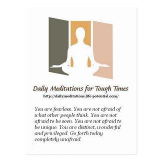 Cartão Postal Meditação diárias