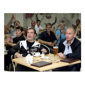 Cartão Postal MEdvedev e partido de Putin