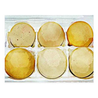 Cartão Postal Meias dúzia ovos de Brown