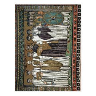 Cartão Postal Meister von San Vitale em Ravenna Chormosaiken