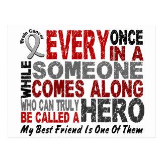 Cartão Postal Melhor amigo do HERÓI do cancro cerebral