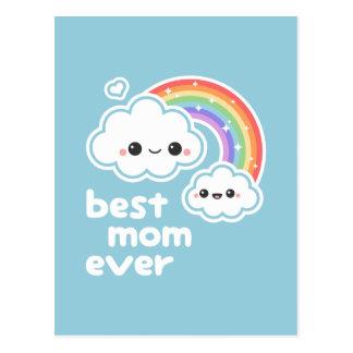 Cartão Postal Melhor mamã bonito nunca