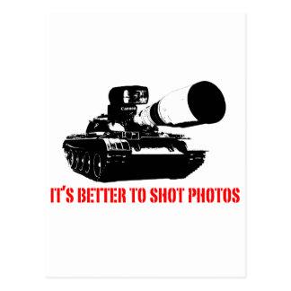 Cartão Postal Melhore às fotos do tiro