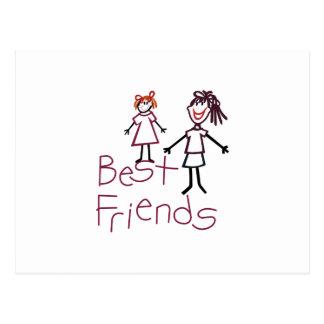 Cartão Postal Melhores amigos