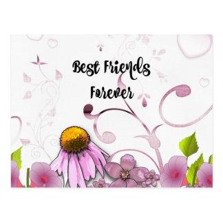 Cartão Postal Melhores amigos para sempre, design gráfico da