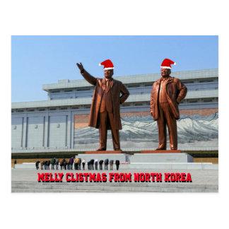 Cartão Postal Melly Clistmas da Coreia do Norte