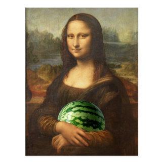 Cartão Postal Melona Lisa deseja o dia nacional feliz da