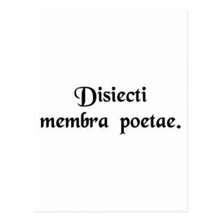Cartão Postal Membros de um poeta desmembrado
