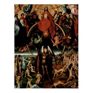 Cartão Postal Memling-Último julgamento de Hans com arcanjo