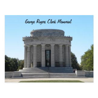 Cartão Postal ~ memorável Vincennes de George Rogers Clark,