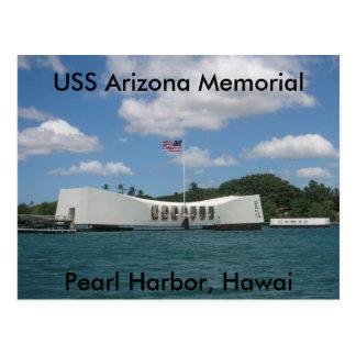 Cartão Postal Memorial da arizona de USS, Pearl Harbor, Hawai