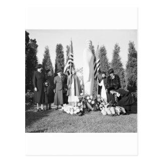 Cartão Postal Memorial de Arlington às enfermeiras: 1938