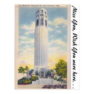 Cartão Postal Memorial de Coit, San Francisco, Califórnia