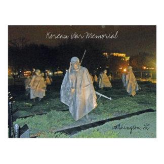 Cartão Postal Memorial de Guerra da Coreia no Washington DC 003