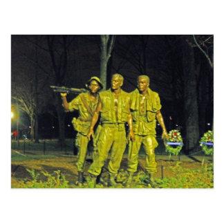 Cartão Postal Memorial de guerra do vietname no Washington DC da