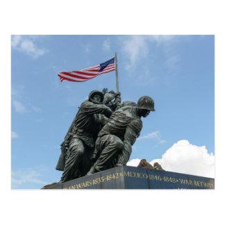 Cartão Postal Memorial de Iwo Jima no Washington DC