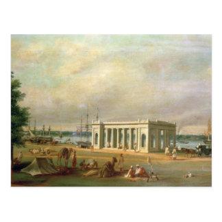 Cartão Postal Memorial de James Prinsep, no rio de Hooghli, Ca