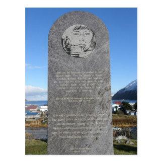 Cartão Postal Memorial do internamento de Aleut, ilha de