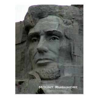 Cartão Postal Memorial do nacional do Monte Rushmore