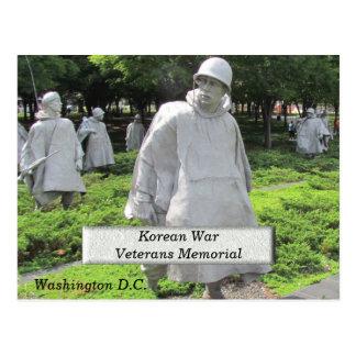 Cartão Postal Memorial dos veteranos de Guerra da Coreia -