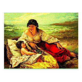 Cartão Postal Memórias do beira-mar do cargo da mãe & da