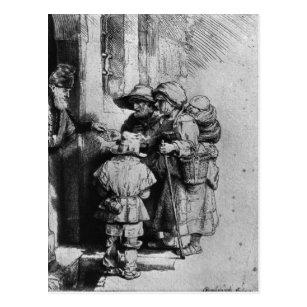 Cartão Postal Mendigos na entrada de uma casa, 1648