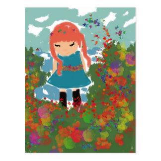 Cartão Postal menina
