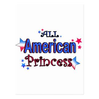 Cartão Postal Menina americana