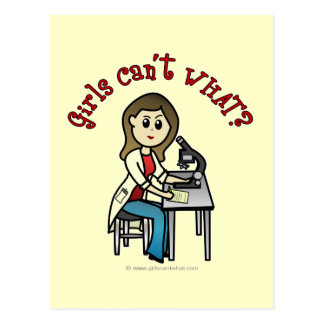 Cartão Postal Menina clara do cientista