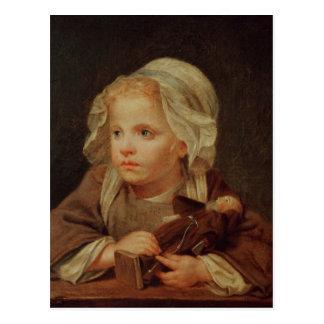 Cartão Postal Menina com uma boneca