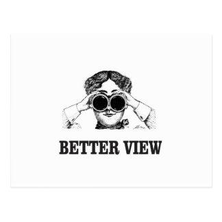 Cartão Postal menina com uma vista melhor