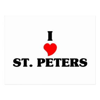 Cartão Postal Menina cor-de-rosa de St Peters
