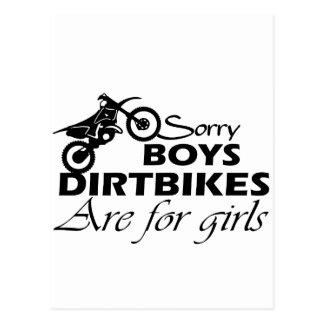 Cartão Postal menina da bicicleta da sujeira