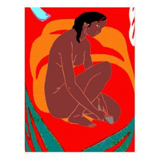 Cartão Postal Menina da ilha, Havaí, Tahiti