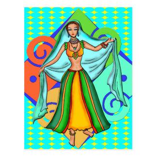 Cartão Postal Menina de dança bonita da barriga