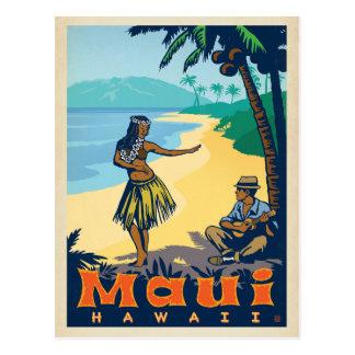 Cartão Postal Menina de Maui, Havaí | Hula & Ukele