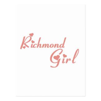 Cartão Postal Menina do monte de Richmond