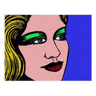 Cartão Postal Menina do pop